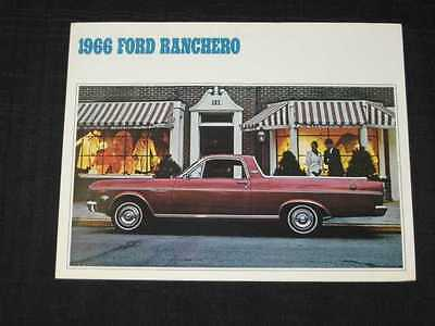 1966 Ford Ranchero Folder Sales Brochure CDN