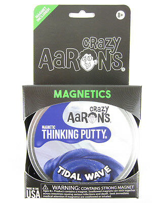 BLUE TIDAL WAVE Super MAGNETIC silly Magnet desk toy Thinking Putty Crazy Aarons