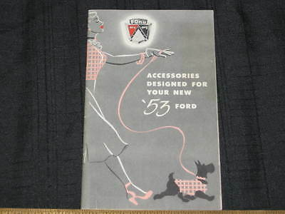 1953 Ford Accessories Sales Brochure