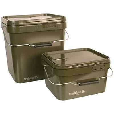 Trakker Carp Fishing NEW 5 Ltr/5L or 17 Ltr/17L Olive Square Container Bucket