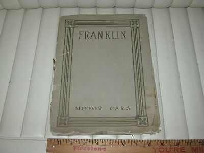 1912 FRANKLIN Prestige Car Sales Brochure RARE