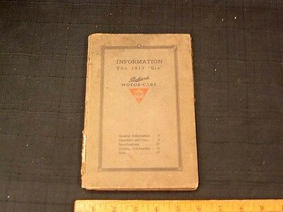1912 Packard Six Cylinder Owner's Manual