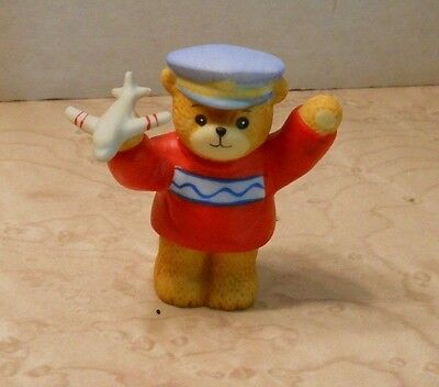 Enesco  Bear Pilot with airplane - 1986 - Lucy Rigg