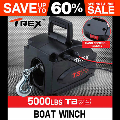 T-REX 6500lbs Electric Boat Winch Portable Detachable 12V ATV 4wd 4x4 Trailer