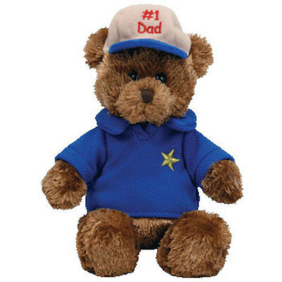 TY Beanie Baby - DEAR DAD the Bear (Hallmark Gold Crown Exclusive) (8 inch) MWMT