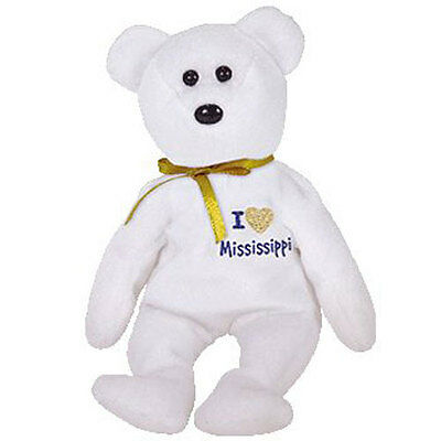 TY Beanie Baby - MISSISSIPPI the Bear (I Love Mississippi - State Bear) (9 inch)