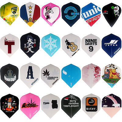 Gift Wrapping 72 pcs/lot Dart Flights in 24 Patterns Darts Feather Fin Accessory