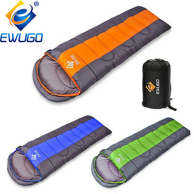 4-5 Season Outdoor Camping Hiking Suit Equipment Adult Envelope Sleeping Bags UK