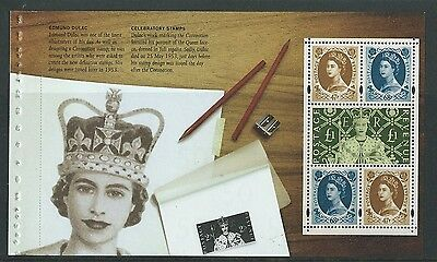 Great Britain 2003 Coronation Unmounted Mint Booklet Pane Irregular Stitch Holes