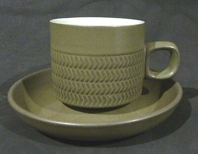 DENBY CHEVRON COFFEE CUP & SAUCER,7 cm high cup