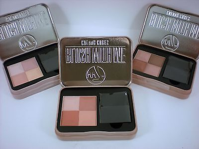 W7 BLUSH WITH ME COLOUR CUBES Powder Blusher Brick with brush in a  choose shade