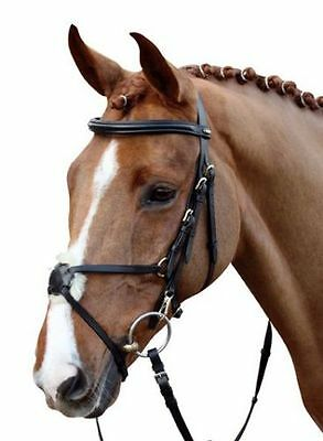 HKM Leather Mexican Grackle Bridle & Reins ALL SIZES | Black & Brown | Hand sewn