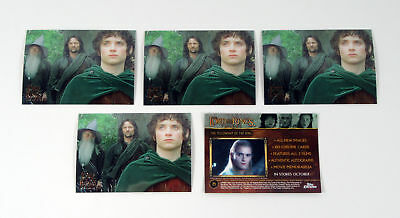 Lot of (5) 2004 Topps Lord of the Rings Trilogy Chrome Promo Card (P1) Nm/Mt
