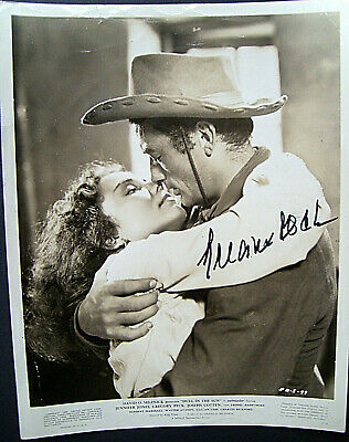 Gregory Peck (Duel In The Sun) Orig,Autograph Photo With Movie Pressbook