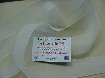 """5 Metres White 1-1/2"""", ( 40mm )  Finished Sided Tape"""