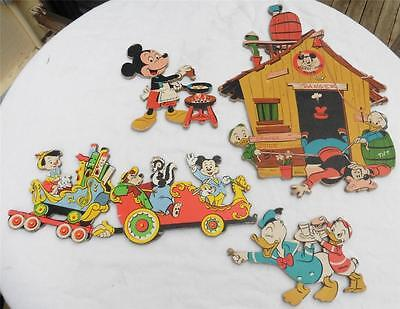 VINTAGE 1950s RARE Disney Mickey Mouse Club Camp Out Train Wall Display VHTF