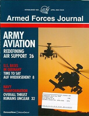 2003 Armed Forces Journal Magazine: Army Aviation- Redefining Air Support/Bases