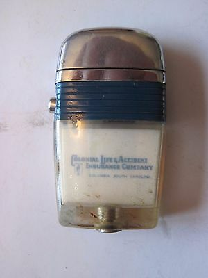 Vintage Blue Colonial Life & Accident Insurance Co Scripto VU Lighter