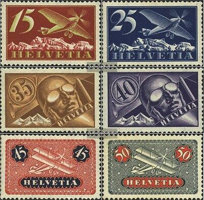 Switzerland 179-184 (complete.issue) used 1923 Airmail
