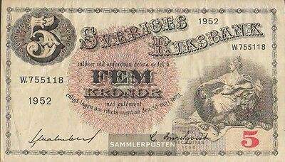 Sweden Pick-number: 33ai (1952) used (III) 1952 5 Kronor