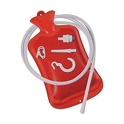 MABIS Enema, Douche, Medical Enema with Hot Water Bottle, Reusable, Red New