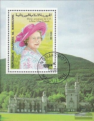 Mauritania block62 fine used / cancelled 1985 queen mother Elizabeth