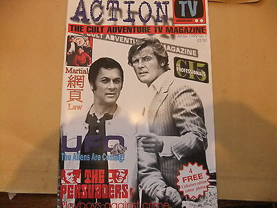 Action Tv 1 The Persuaders New Professionals Roger Moore Tony Curtis Magazine