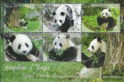 Tonga block68 mint never hinged mnh 2013 giant panda