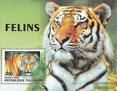 Togo Block449 unmounted mint / never hinged 2000 Big Cats out all World
