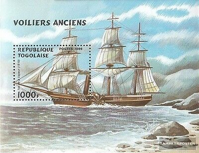 Togo Block444 unmounted mint / never hinged 1999 Sailboats