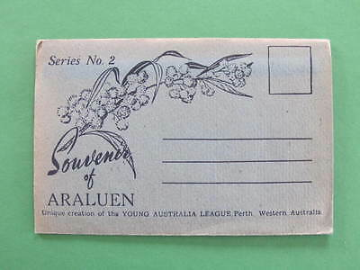 West Australia Araluen Series No. 2 Souvenir Foldout Views Folder WA Postcard