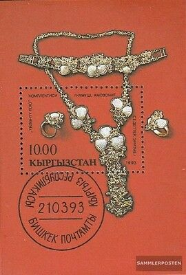 Kirgisistan block1 fine used / cancelled 1993 National Culture and History