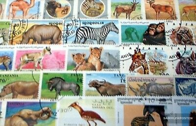 Africa 150 different African Animals Stamps