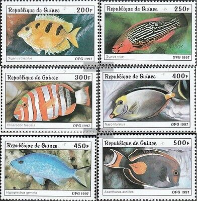 Guinea 1645-1650 unmounted mint / never hinged 1997 Fish