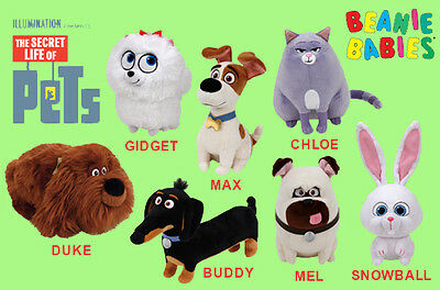 TY    SETS of 7    Secret Life of Pets Beanie Babies BRAND NEW with ... 597f2e18ad5