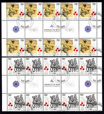 Australia 2015 Animals in War 70 C * 20 MNH Stamps Sheet -GPO Melbourne VIC 3000
