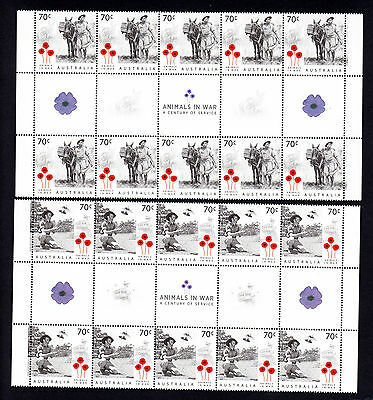 Australia 2015 Animals in War 70 C * 20 MNH Stamps Sheet Century of Service