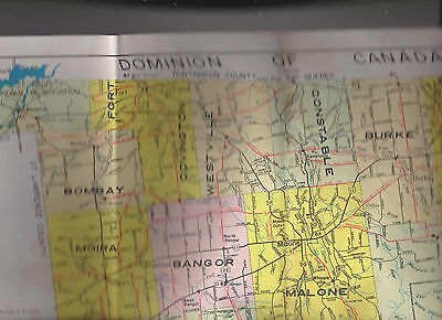 Highway Map of Franklin County New York 1966 18 x 28 1/2
