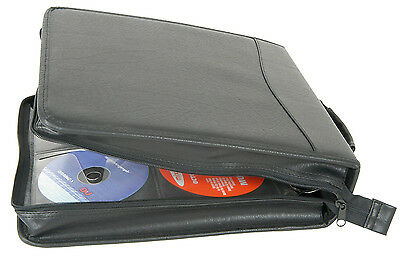 Carry Case For 200 CDs/DVDs, Leather Look