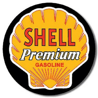 Shell Round Metal Sign/Poster Premium Gasoline