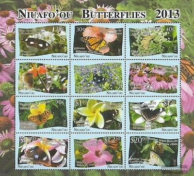 Niuafo ou - Island 527-538 zd-feuille (édition complète) neuf 2013 Papillons