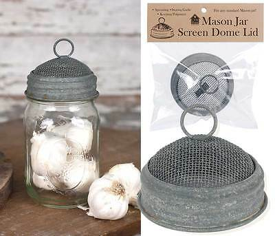 Country mason jar screen dome lid/ fits standard jars