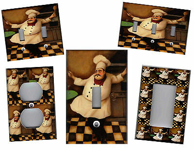 Fat Chef - Fat Chef Kitchen Home Decor Light Switch Plates And Outlets