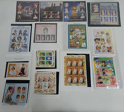Lot of (125) Mystic Stamp Co. Lady Diana Princess of Wales Stamps MINT
