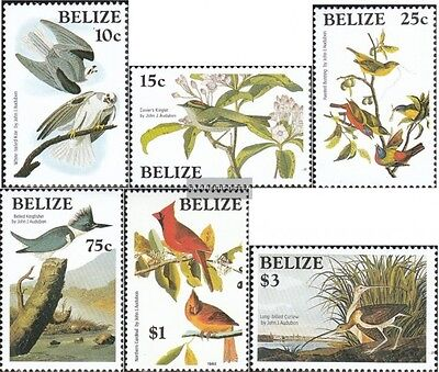 belize 784-789 neuf avec gomme originale 1985 john james audubon