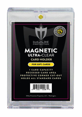 (5) Max Pro Ultra One Premium Magnetic UV 55pt Black Label Touch Card Holders