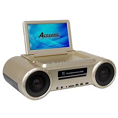Portable CDG/MP4/MP3G Karaoke Boombox Availble in Black and Gold