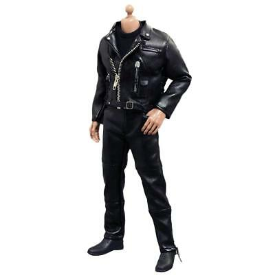 1/6 Action Figure Leather Jacket Pants Outfit for Hot Toys Sideshow Dragon