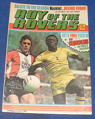 Roy Of The Rovers Comic 12Th September 1981 Steve Perryman