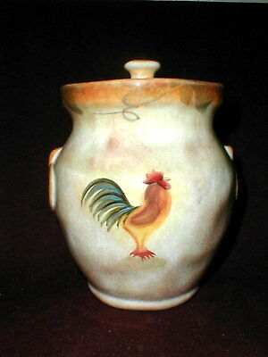 222 Fifth TUSCAN Rustic Rooster Cookie Jar/ Canister